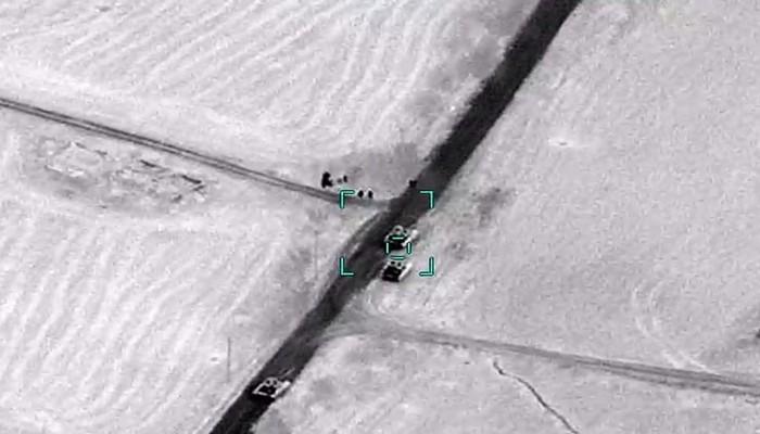 Düşmənin daha iki tankının məhv edilməsinin görüntüləri