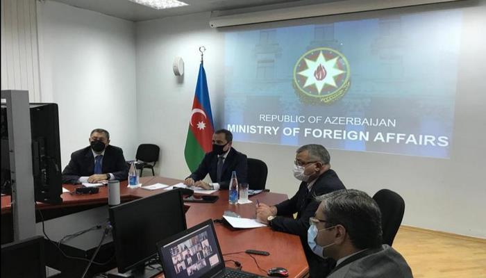 Джейхун Байрамов провел видеоконференцию с участием глав дипмиссий страны за рубежом