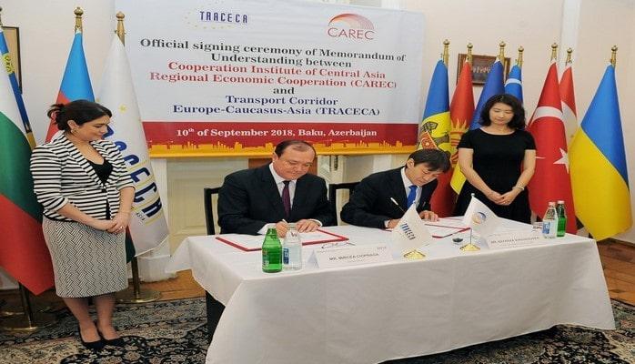 Секретариат ТРАСЕКА подписал меморандум с Организацией Центрально-Азиатского регионального экономического сотрудничества