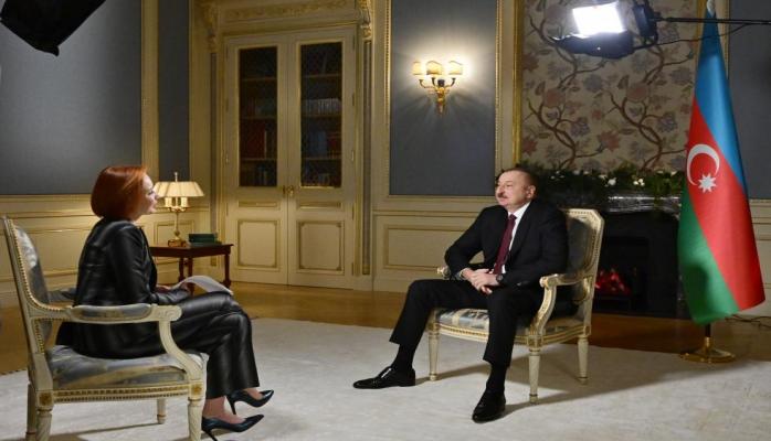 """Сегодня телеканал """"Россия-24"""" будет транслировать интервью Президента Ильхама Алиева"""