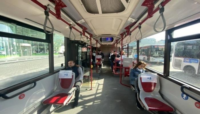 'BakuBus' avtobuslarında sosial məsafənin gözlənilməsi qaydaları tətbiq edilib