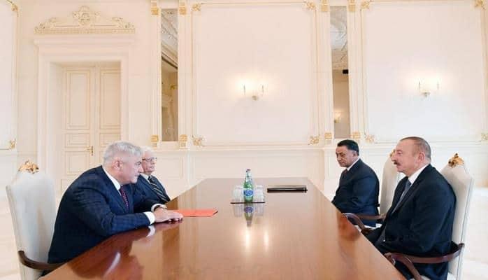 Президент Азербайджана принял делегацию под руководством главы МВД России