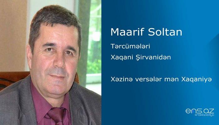 Maarif Soltan - Xəzinə versələr mən Xaqaniyə