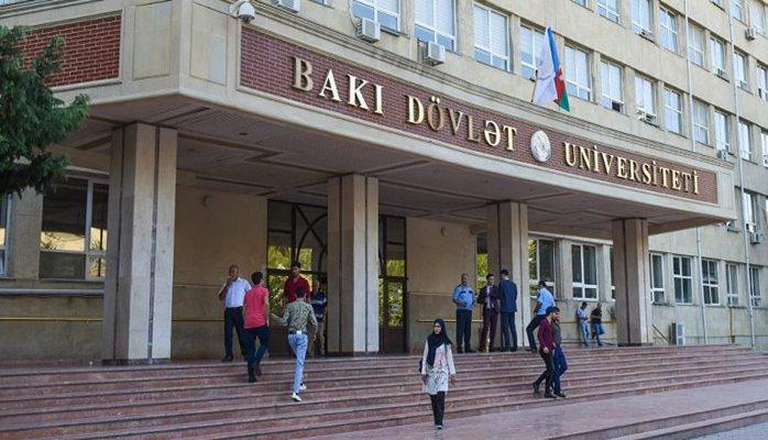 Bakı Dövlət Universitetinin giriş-çıxışı bağlandı