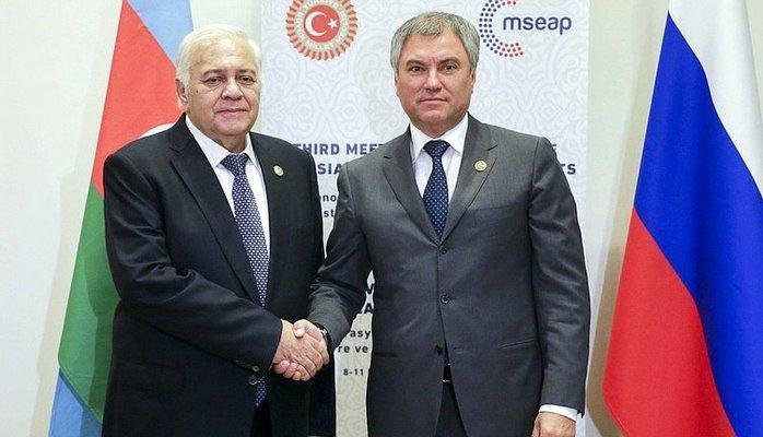 Председатель Госдумы пригласил спикера Милли Меджлиса совершить официальный визит в Россию