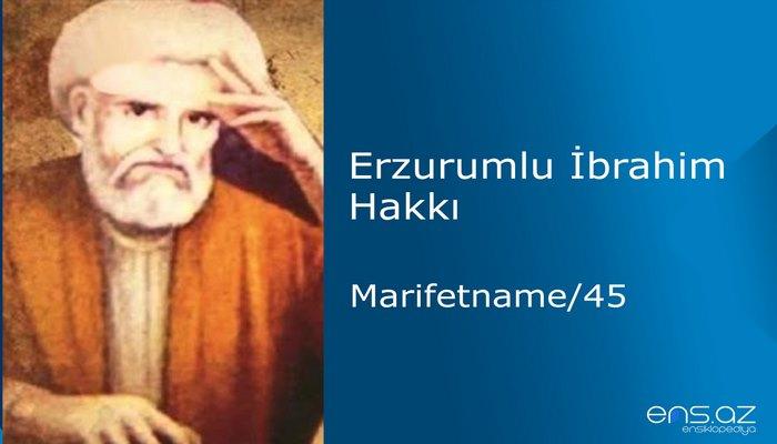 Erzurumlu İbrahim Hakkı - Marifetname/45