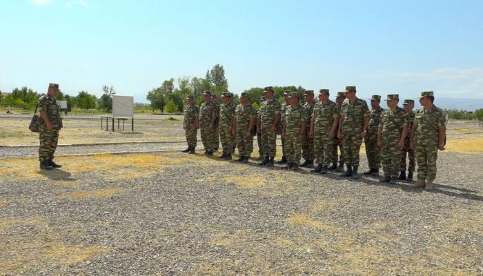 В Отдельной общевойсковой армии Нахчывана проведены занятия по командирской подготовке