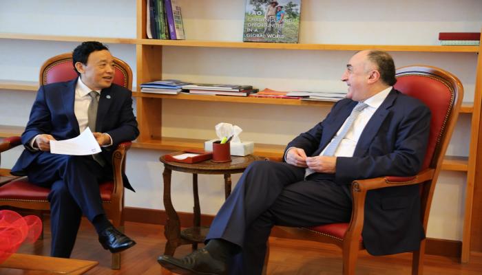Elmar Məmmədyarov Romada FAO-nun direktoru ilə görüşdü