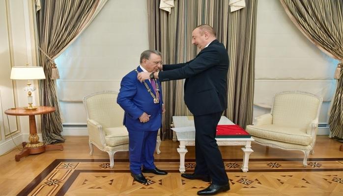 """Prezident İlham Əliyev Ramiz Mehdiyevi qəbul edib və ona """"Heydər Əliyev"""" ordeni təqdim edib"""