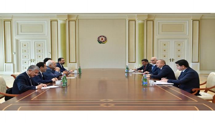 Президент Ильхам Алиев принял делегацию во главе с министром иностранных дел Ирана