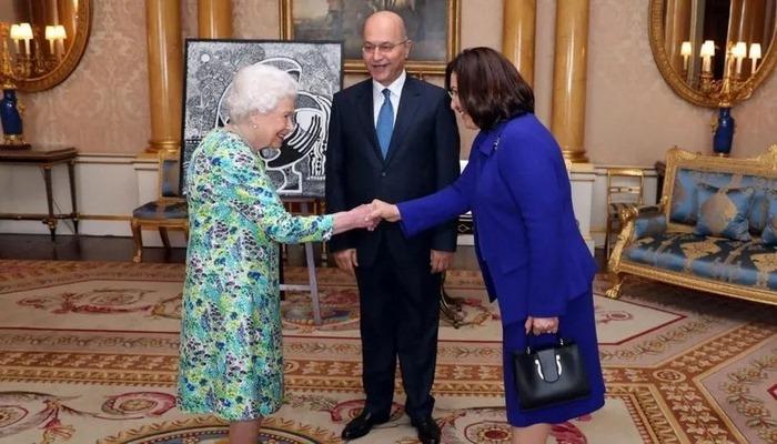 Kraliçe Elizabeth, 2003'ten bu yana ilk kez Irak Cumhurbaşkanını kabul etti