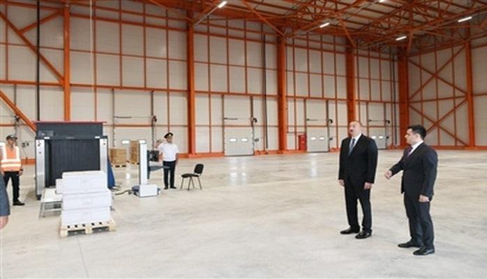 Prezident İlham Əliyev Abşeron Logistika Mərkəzinin açılışında iştirak edib