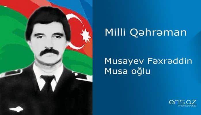 Fəxrəddin Musayev Musa oğlu