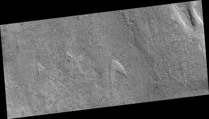 Mars'a Işınla Beni Scotty: Mars'ta Star Trek Amblemine Benzeyen Yapı Bulundu