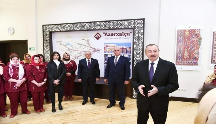 Президент Ильхам Алиев: В Азербайджане предусматривается строительство 30 ковровых фабрик