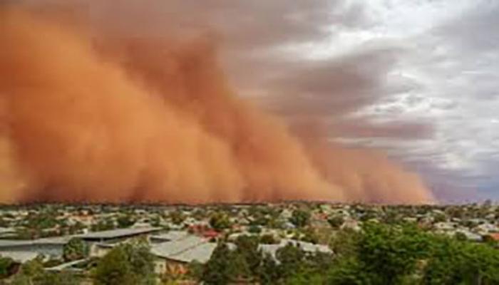 Австралию накрыла песчаная буря