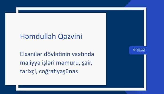 Həmdullah Qəzvini