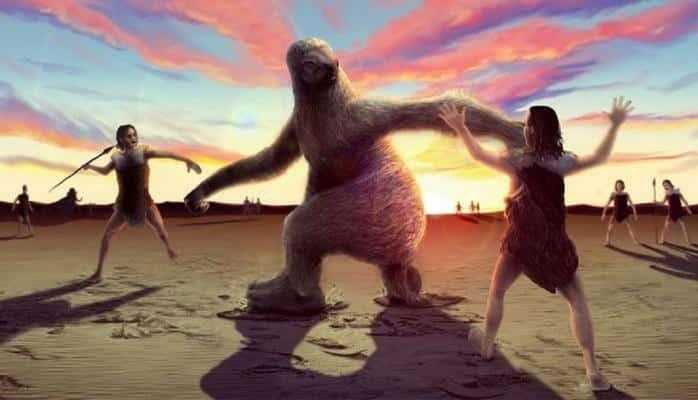 Как древние люди охотились на гигантских ленивцев