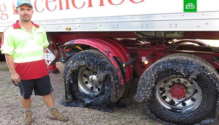 Avstraliyada isti havalara görə asfalt əriyib