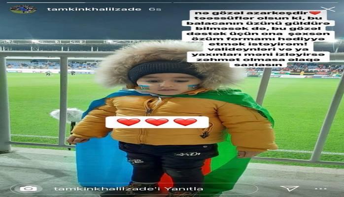 Azərbaycanlı futbolçu bu uşağı axtarır: Tapsa, hədiyyə verəcək