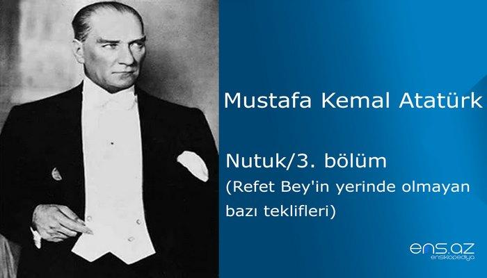 Mustafa Kemal Atatürk - Nutuk/3. bölüm