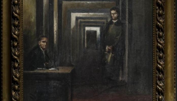 Muzeydə Hitlerin çəkdiyi rəsmə hücum