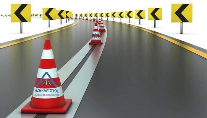 В Баку продолжаются работы по нанесению разметки автодорог