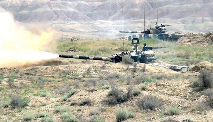 Azərbaycan ordusunun tank bölmələrinin intensiv döyüş hazırlığı məşğələləri başlayıb