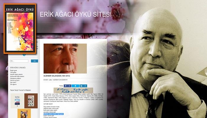 Ələkbər Salahzadə yaradıcılığı Türkiyə ədəbiyyat portalında