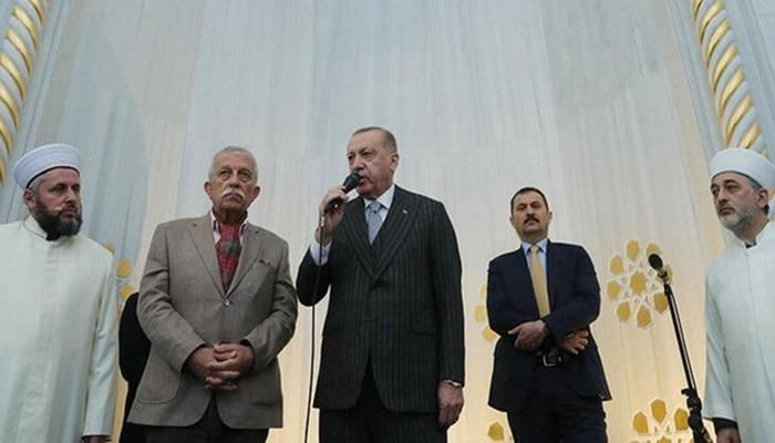 Erdoğan camide konuşma yaptı