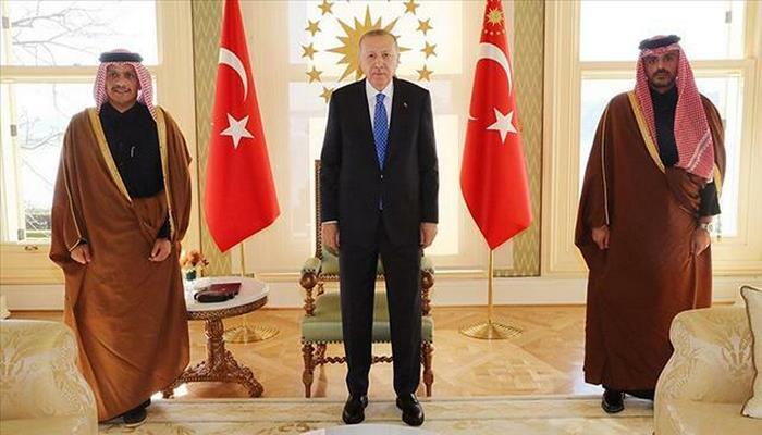 Ərdoğan Qətərin baş diplomatı ilə görüşdü