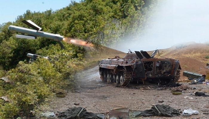 """Erməni tanklarını darmadağın edən """"Spike"""" raketləri"""