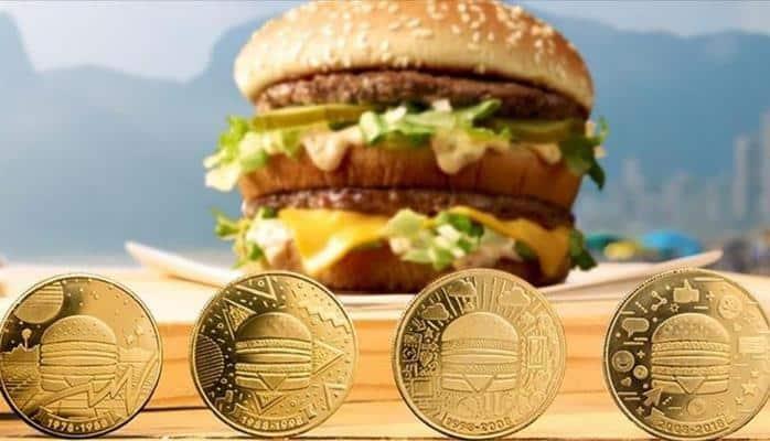 """""""McDonalds"""" sendviç formasında pul hazırlayır"""