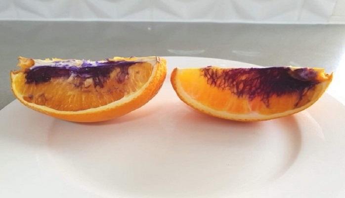 Тайна фиолетового апельсина раскрыта