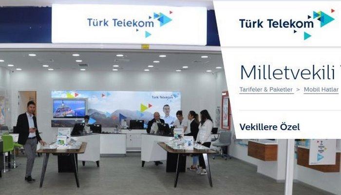 Türk Telekom'un dikkat çeken Milletvekili tarifesi!Türk Telekom'un dikkat çeken Milletvekili tarifesi!