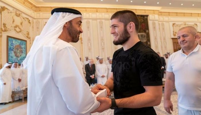 Принц Абу-Даби встретился с Хабибом Нурмагомедовым