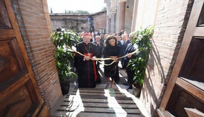 Мехрибан Алиева приняла участие в церемонии открытия катакомб Святого Себастьяна в Ватикане