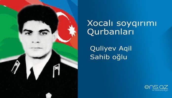 Quliyev Aqil Sahib oğlu