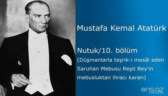 Mustafa Kemal Atatürk - Nutuk/10. bölüm