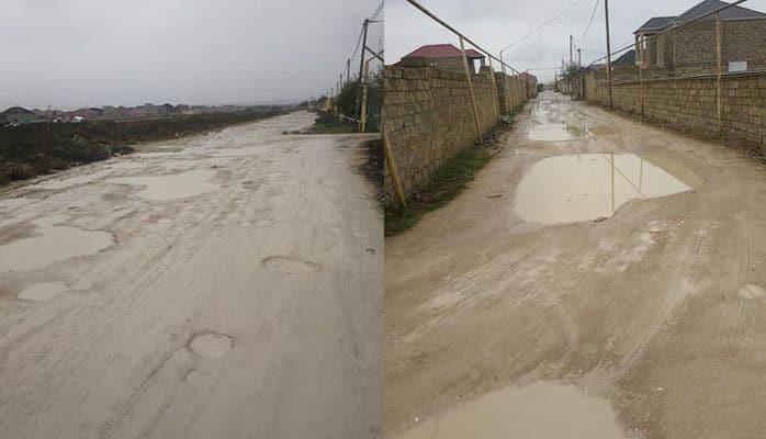 Дороги в Сабунчи в плачевном состоянии