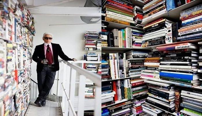 Kitabxanasında 300 min kitab var