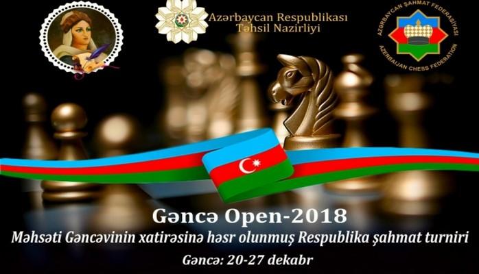 """""""Gəncə Open 2018"""" respublika şahmat turniri keçiriləcək"""