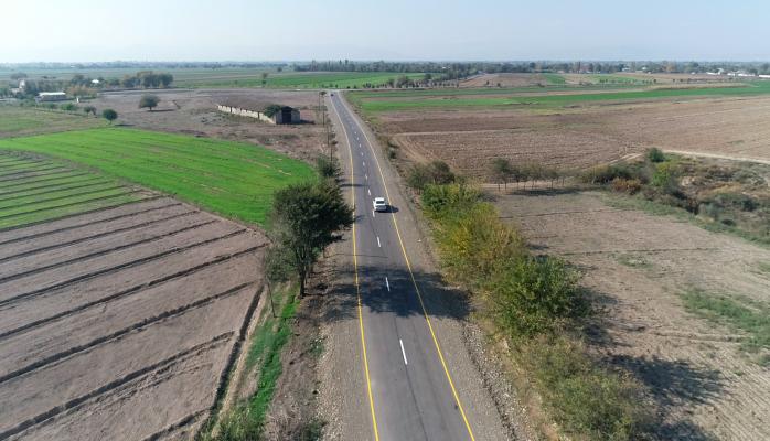 В Агджабеди реконструирована 18-километровая дорога местного значения