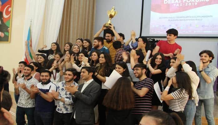 XIX Respublika Gənclər Debat Forumu: Yaz 2019 yekunlaşıb