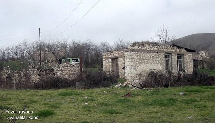 Füzuli rayonunun Divanalılar kəndinin görüntüləri