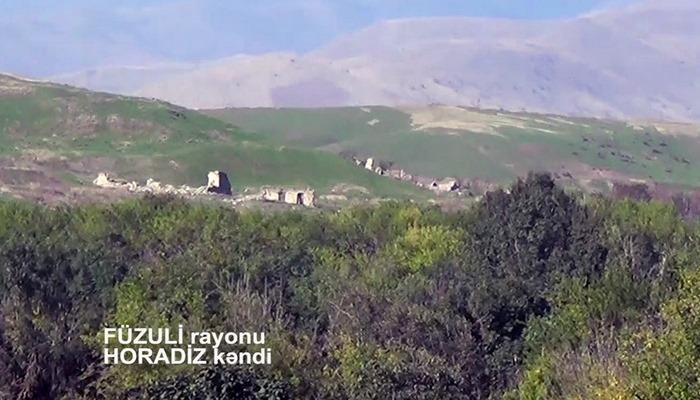Füzuli rayonunun işğaldan azad olunan Horadiz kəndinin yeni videogörüntüsü