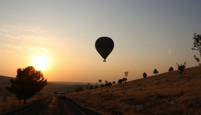 Göbeklitepe'de sıcak hava balonuyla ilk uçuş yapıldı