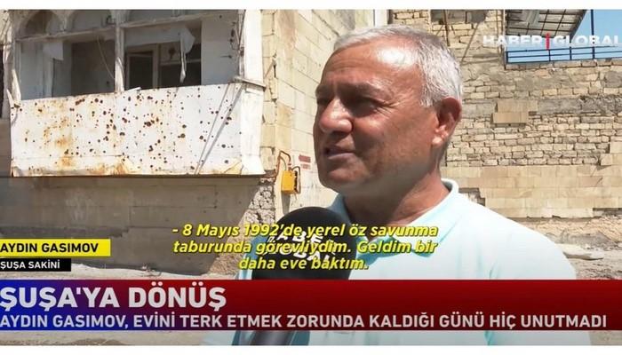 """""""Haber Global"""": 28 il sonra Şuşadakı doğma evinə qayıdan sakinin tapdığı yeganə əşya"""