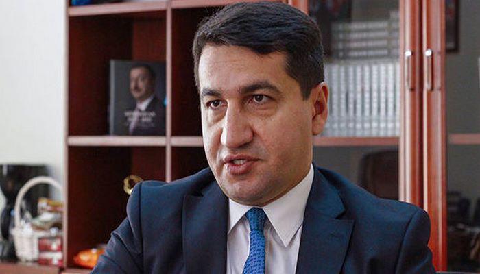 """Hikmət Hacıyev: """"Erməni tərəfi qarşısına qoyduğu məqsədə çata bilmədi"""""""