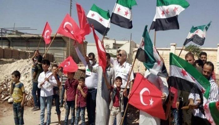 İdlib'de Türk askerine destek gösterisi.